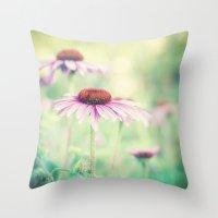 500 days of summer Throw Pillows featuring summer days by Bonnie Jakobsen-Martin