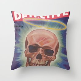 Mammoth Detective - February 1944 Throw Pillow