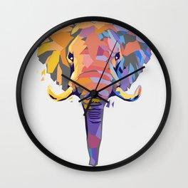 Wild Elephant Wall Clock