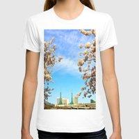 portland T-shirts featuring Portland Hanami by Casey J. Newman