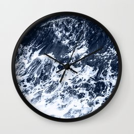 Marble Ocean Indigo Wall Clock