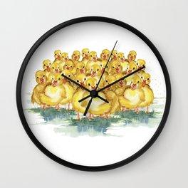Little Duck Family Wall Clock