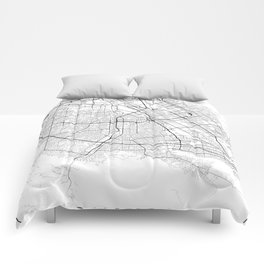 Minimal City Maps - Map Of San Jose, California, United States Comforters