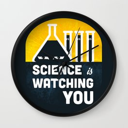Science is Watching You Wall Clock