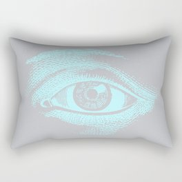 Pastel Color Retro Eye Pattern Rectangular Pillow