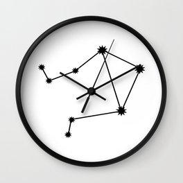 Libra Astrology Star Sign Minimal Wall Clock