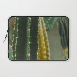 Close Up Of Prickly Green Cactus Laptop Sleeve