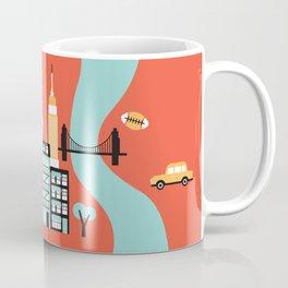 Hello New York - retro manhattan NYC icons illustration Coffee Mug