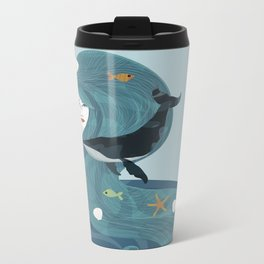 Aquatic Life of a Seaflower Metal Travel Mug