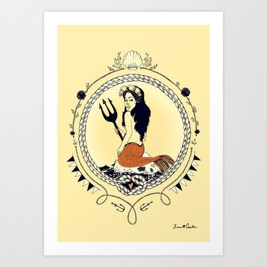 Mermaid Queen Art Print