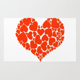 A Heart Full Of Love Red Valentine Hearts Within A Heart Rug