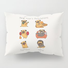 New Years Resolutions with The Pug Pillow Sham