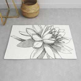 Vintage Lotus Flower Rug