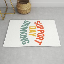 Support Day Drinking Vintage 70s 80s Retro Style Funny print Rug