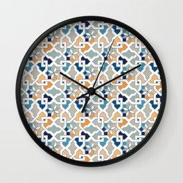 Geometric Pattern - Oriental Design Wall Clock