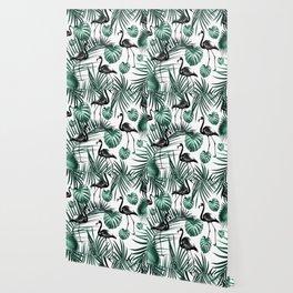 Tropical Flamingo Pattern #6 #tropical #decor #art #society6 Wallpaper
