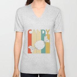 Vintage Candy Lover Gift Idea for sweet lover  Unisex V-Neck
