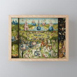Hieronymus Bosch The Garden Of Earthly Delights Framed Mini Art Print