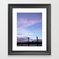 HAWTHORNE BRIDGE Framed Art Print