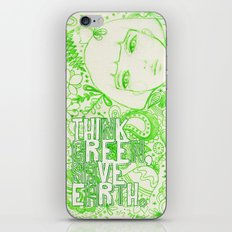 Think Green, Save Earth iPhone & iPod Skin