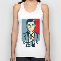 archer Tank Tops featuring Archer by Mental Activity