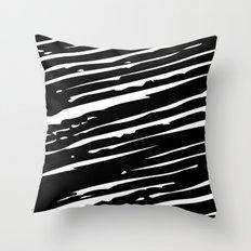Sketchy Zebra Print Throw Pillow