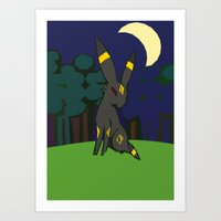 umbreon Art Prints featuring Umbreon by Bearpark