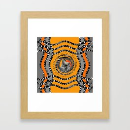 Zebra Tribal Sunset Framed Art Print