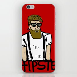Hipster icon iPhone Skin