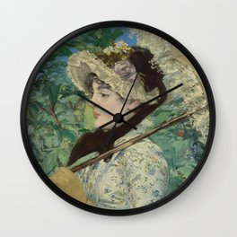 Edouard Manet - Jeanne (Spring) Wall Clock
