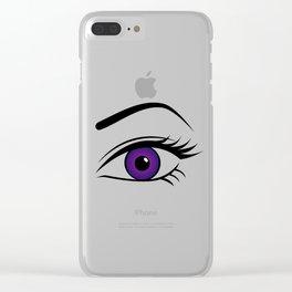 Violet Left Eye Clear iPhone Case