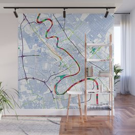 Mesopotamia's POP urban map Wall Mural