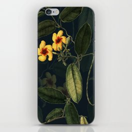 Night Yellow Flower iPhone Skin