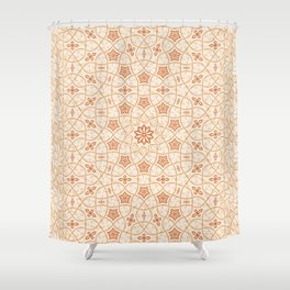 Arabesque Vines - Color: Sugar&Spice Shower Curtain
