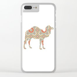 CAMEL SILHOUETTE WITH PATTERN Clear iPhone Case