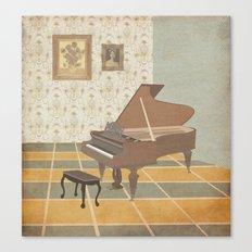 Piano Room Canvas Print