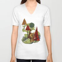 creativity V-neck T-shirts featuring Creativity by artchica