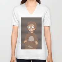 regular show V-neck T-shirts featuring Regular Show- I'm Eggscellent  by Mango Mamacita