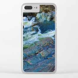 On route to Ucluelet on Vancouver Island, BC Clear iPhone Case
