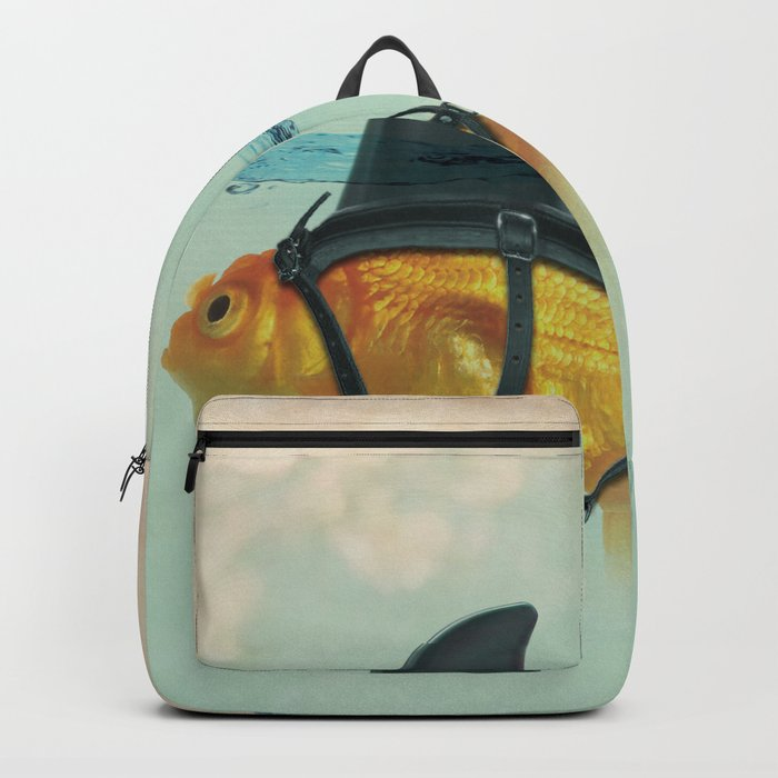 Brilliant DISGUISE - Goldfish with a Shark Fin Rucksack