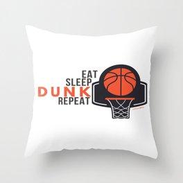Eat Sleep Dunk Repeat  Throw Pillow