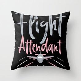 Flight attendant Throw Pillow
