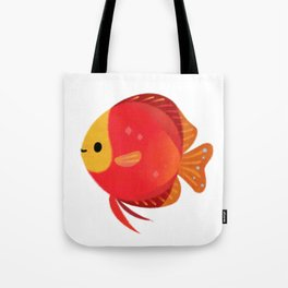 Red discus Tote Bag