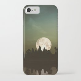 Angkor Wat Super Moon iPhone Case