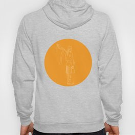 Scotsman Soldier Bagpiper Circle Drawing Hoody
