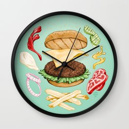 Burger Mandala Wall Clock