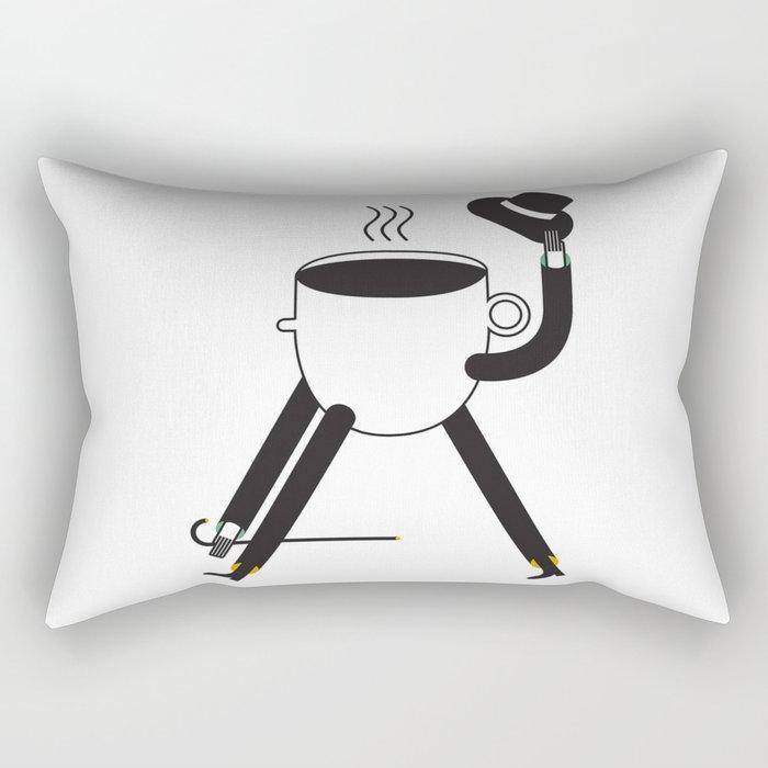Coffee Friends Rectangular Pillow