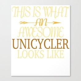 Unicycle Pedal Vehicle Sport Gift High Bike Canvas Print
