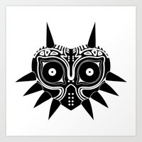 majoras mask Art Prints featuring Majoras Mask by Tom Milburn