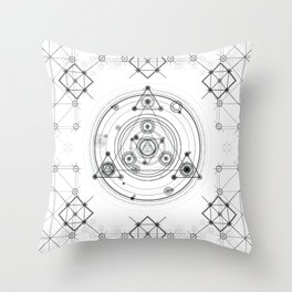 Sacred geometry and geometric alchemy design Throw Pillow
